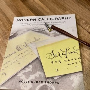 Modern Calligraphy book by Molly Stuber Thorpe